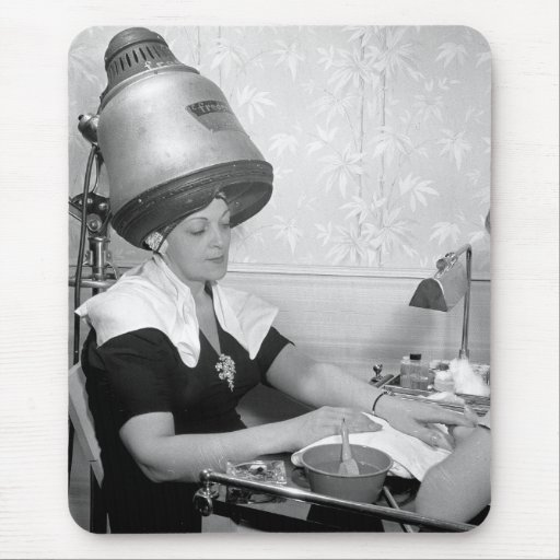 Day of Glamour Vintage Beauty Parlor New York City Mouse Pad
