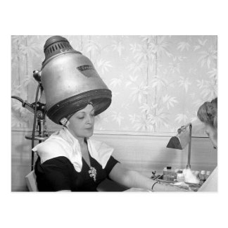 Day of Glamour Vintage Beauty Parlor New York City Postcard