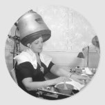 Day of Glamour Vintage Beauty Parlor New York City Stickers