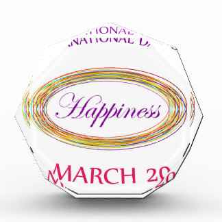 Day of Happiness- Commemorative Day March 20 Acrylic Award