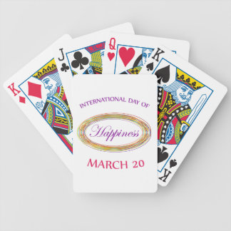 Day of Happiness- Commemorative Day March 20 Bicycle Playing Cards