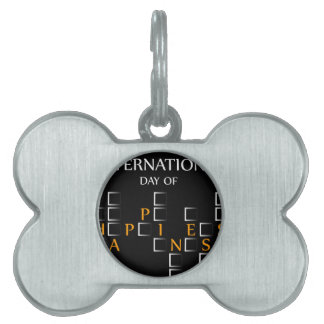 Day of Happiness- Commemorative Day March 20 card Pet ID Tag
