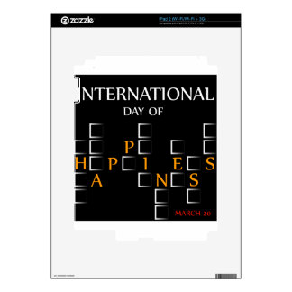 Day of Happiness- Commemorative Day March 20 card Skin For iPad 2
