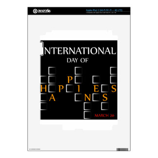 Day of Happiness- Commemorative Day March 20 card Skins For iPad 3