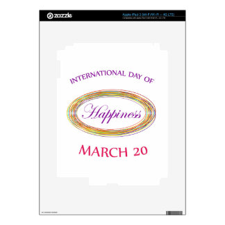 Day of Happiness- Commemorative Day March 20 iPad 3 Skins