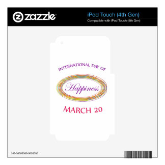 Day of Happiness- Commemorative Day March 20 iPod Touch 4G Decal