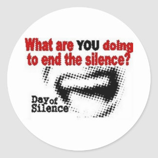 Day+of+Silence Classic Round Sticker