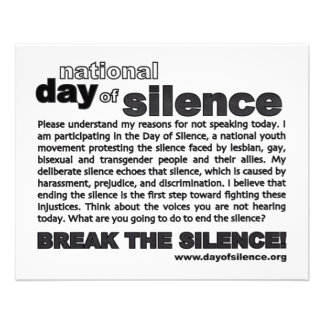 Day Of Silence Flyer!