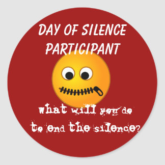 Day of Silence Participant Sticker