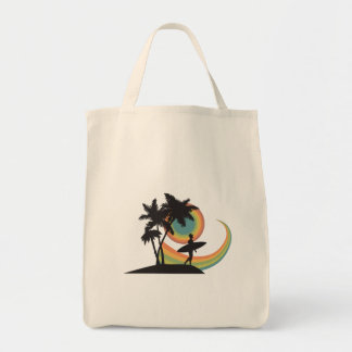day of surfing vector design bags