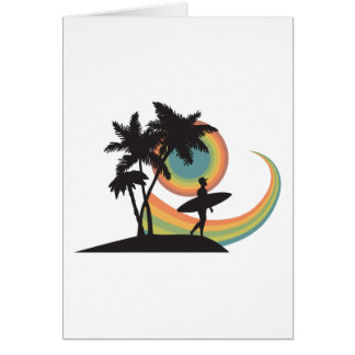 day of surfing vector design cards