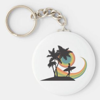 day of surfing vector design key chain
