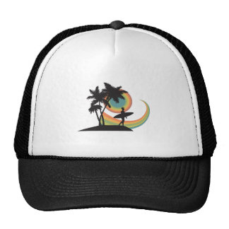 day of surfing vector design mesh hats