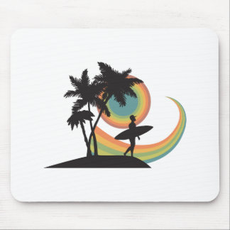 day of surfing vector design mouse pad