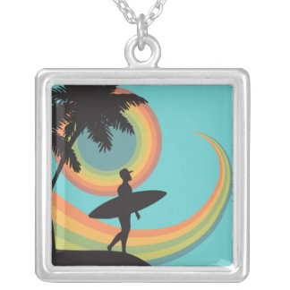 day of surfing vector design pendant