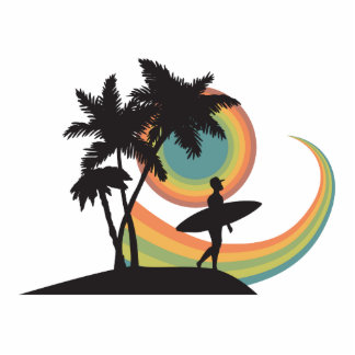 day of surfing vector design photo cut outs