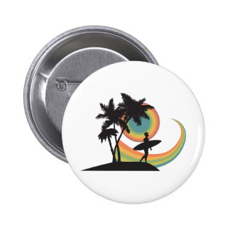 day of surfing vector design pins