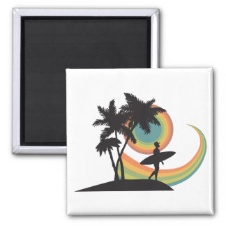 day of surfing vector design refrigerator magnets