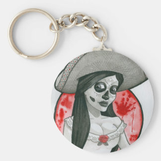 day of the... basic round button keychain