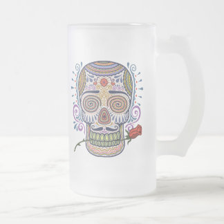 Day of the Casanova Frosted Glass Beer Mug