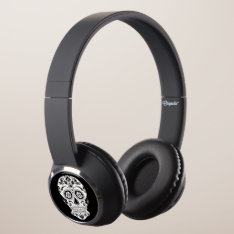 Day Of The Dead 1 Headphones at Zazzle