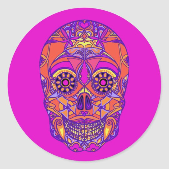 Day of the Dead 2 Classic Round Sticker