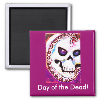 Day of the Dead 2 Inch Square Magnet