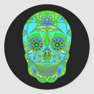 Day of the Dead 3 Classic Round Sticker