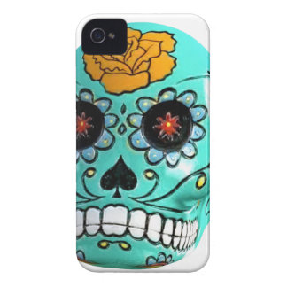 Day of the Dead Aqua Candy Skull Case-Mate iPhone 4 Case