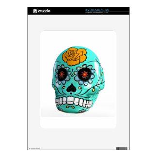 Day of the Dead Aqua Candy Skull iPad Skin