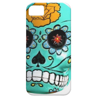 Day of the Dead Aqua Candy Skull iPhone SE/5/5s Case