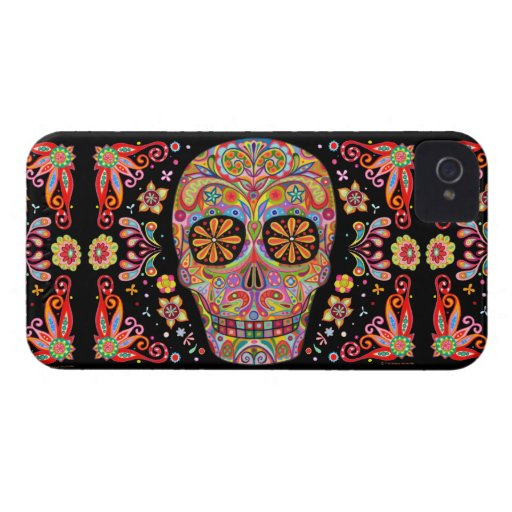 Day of the Dead Art iPhone 4/4S Barely There Case iPhone 4 Covers