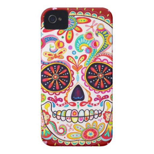 Day of the Dead Art iPhone 4/4S Barely There Case Case-Mate iPhone 4 Case