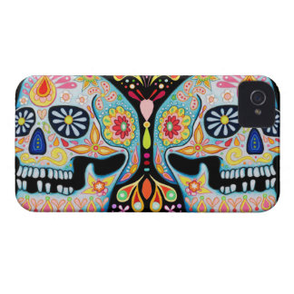 Day of the Dead Art iPhone 4/4S Barely There Case iPhone 4 Case