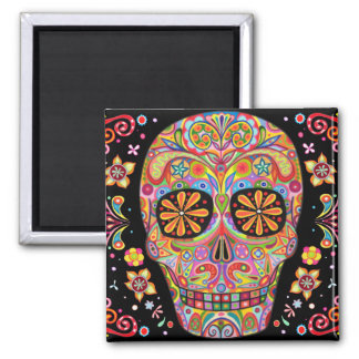 Day of the Dead Art Magnet