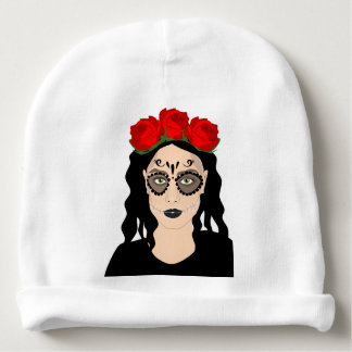Day of the Dead Baby Beanie