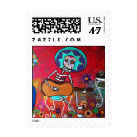 Day of the Dead Bailar Stamp