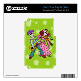 Day of the Dead Band iPod Touch 4G Decals