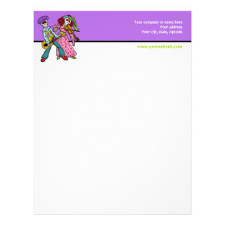 Day of the Dead Band Letterhead Template