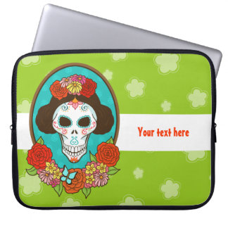 Day of the Dead Beauty Computer Sleeves