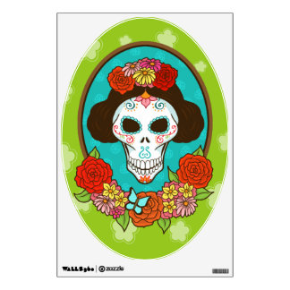 Day of the Dead Beauty Wall Decal