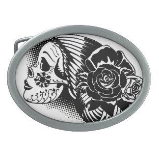 Day of the Dead belt buckle