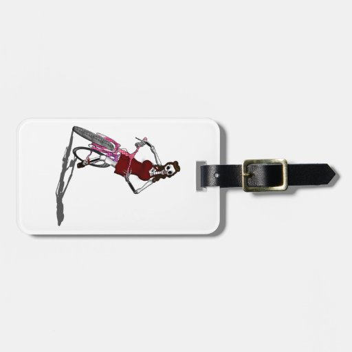 Day of the Dead Bike Chic Bag Tags