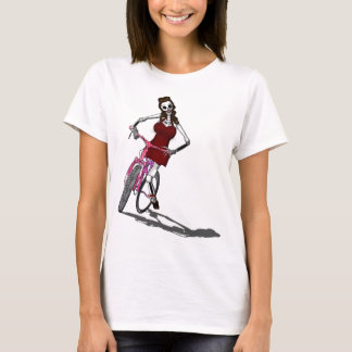 Day of the Dead Bike Chic T-Shirt