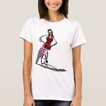 Boneyfied Day of the Dead Bike Chic T-Shirt