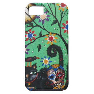 Day Of The Dead, Black Cat BY LORI EVERETT iPhone 5 Case
