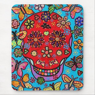 Day of the Dead - Blood Butterflies Mouse Pad