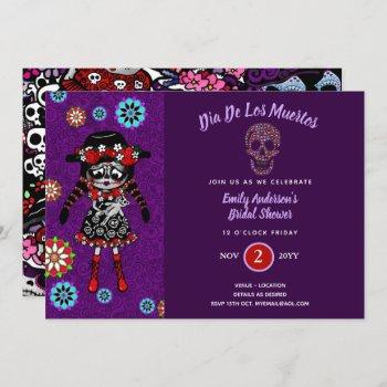 Day of The Dead Bridal Baby Shower Sugar Skull Invitation