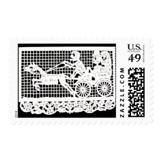 Day of the Dead - Bride and Groom in Horse-drawn C Postage