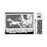 Day of the Dead - Bride and Groom in Horse-drawn C Postage Stamps